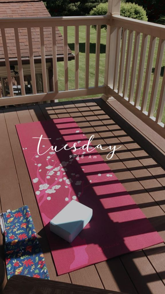 Monthly Minute: June Round Up My sweet yoga set up