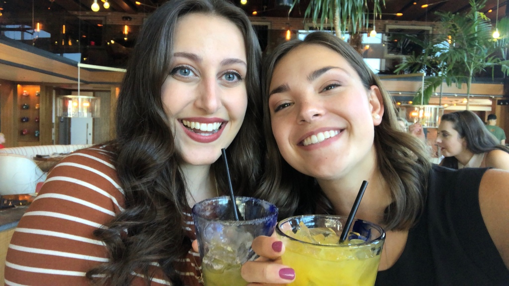 My best friend, Cathy, and I enjoying some margs post-showcase auditions