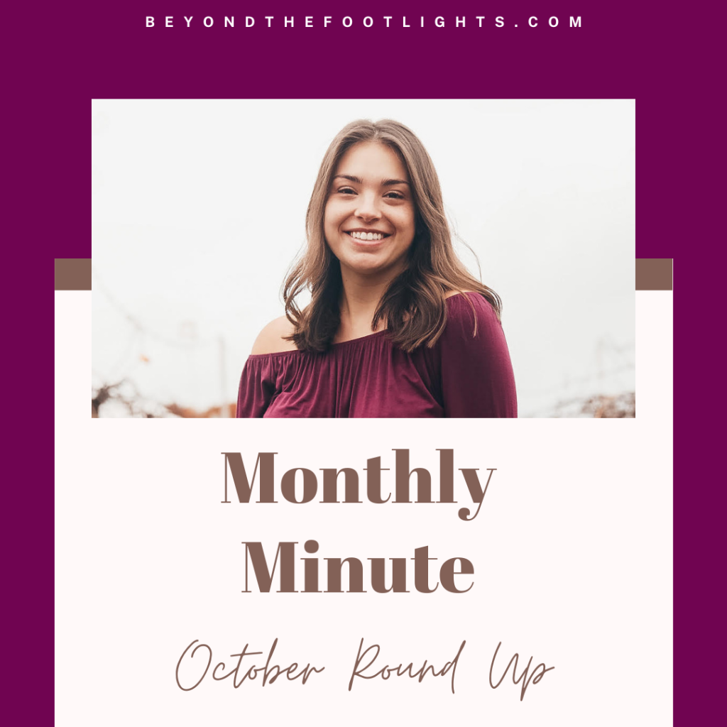 Monthly Minute October Round Up